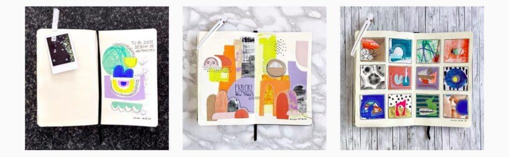 L'Art Journal Therapy avec Melody Miroir